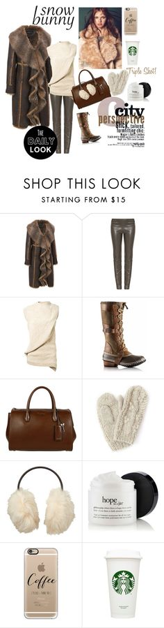 Beantown Snow Bunny! by realestatemom on Polyvore featuring Victoria Beckham, The Row, SOREL, Miu Miu, Bibico, Casetify, Uniqlo, Avery and plus size clothing