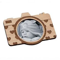 Camera Shaped Magnet Laser-Cut and Etched on por StylineDesigns