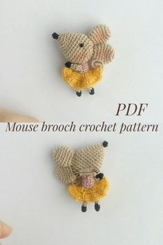 Best 11 If you are a cat or cute brooch lover, or you have a little princess, this brooch pattern is just for you. You can see yourself what a beauty this brooch))) – SkillOfKing. Crochet Mouse, Crochet Amigurumi, Cute Crochet, Crochet Dolls, Knit Crochet, Crochet Brooch, Crochet Patterns Amigurumi, Crochet Accessories, Stuffed Toys Patterns