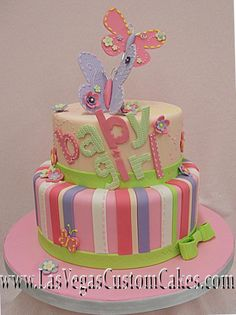 baby shower cakes for girls | Pin Cakes Baby Shower Etc Lexington Ky She Bakes Llc Cake on Pinterest