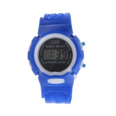 * Penny Deals * - Boys Girls Sport Watch Student Time Electronic Digital LCD Wrist Watch Blue *** Want additional info? Click on the image.