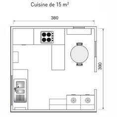 plan de cuisine lamnager de 1m2 32m2 - Plans Cuisine