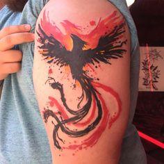 Phoenix Tattoo Sleeve, Phoenix Tattoo Men, Rising Phoenix Tattoo, Small Phoenix Tattoos, Phoenix Tattoo Design, Small Tattoos, Sleeve Tattoos, Tattoos For Guys, Still I Rise Tattoo