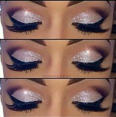 Eye glam, this would be a good eyeshadow look for a actor roled as a singer, or model because its so dramatic