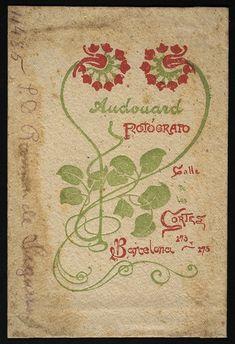 Publicitat de l'estudi de Pau Audouard quan es desfà la compayia Audouard & Cia (ca. 1894)
