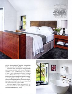 """Architectural Digest, March 2015 - Article """"Hollywood Remake.""""  Designer Waldo Fernandez chooses Tao Gray for Hollywood producer Brian Grazer's Santa Monica home."""