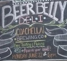 #Beer Tasting & Pairing Event at Beer Belly Deli: Monday, June 22nd at 6pm. Seats are limited.