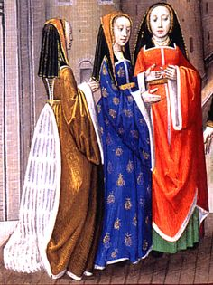 A Lover Addressing Three Ladies  Poems of Charles of Orléans and other works  Unknown illuminator  c. 1490-1500. Via kimiko1.com