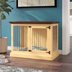 Archie & Oscar Archie Slide Aside Pet Crate Dog Crate Furniture, Fine Furniture, Wooden Slats, Wood Planks, Decorative Dog Crates, Crate End Tables, Barn Door Hinges, Farm Door, Modern Aesthetics
