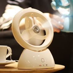 Mini Chargeable USB Electric Fan For Home Office Dorm Room Creative  Portable Air Conditioner Small Fan With Spraying Humidifier