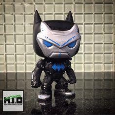 Ironbat custom funko pop by juztadude Batman Action Figures, Pop Figures, Vinyl Figures, Custom Pop Vinyl, Custom Funko Pop, Pop Toys, Geek Culture, Super Powers, Cool Stuff