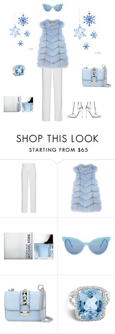 """WINTER"" by elemychic ❤ liked on Polyvore featuring DKNY, Pologeorgis, Michael Kors, Wildfox, Valentino, John Hardy and Pollini"
