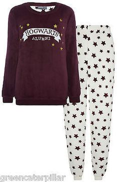 Primark HARRY POTTER PYJAMAS HOGWARTS ALUMNI Ladies Women SUPERSOFT PJ SET 6-20                                                                                                                                                                                 More