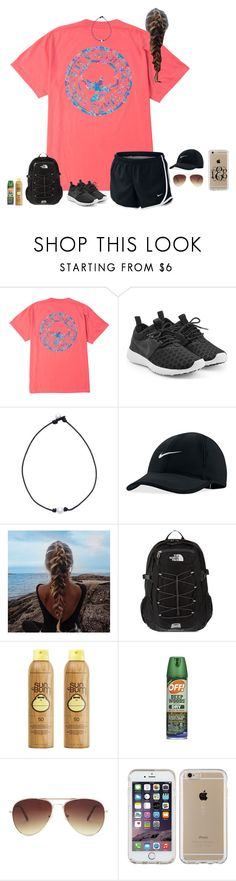 """Hiking Contest!!"" by liblu13 ❤ liked on Polyvore featuring NIKE, The North Face, Sun Bum, Forever 21 and Speck"