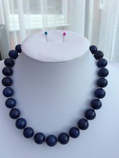 Sapphire Blue Quartzite and sodalite spacers - necklace