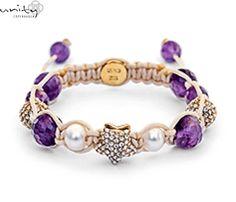 GOLD STAR HEAVEN - contine perle de tip Amethyst, o stea de aur si doua de zirconiu. Stea, Aur, Gold Stars, Copenhagen, Unity, Beaded Bracelets, Jewels, Craft, My Style