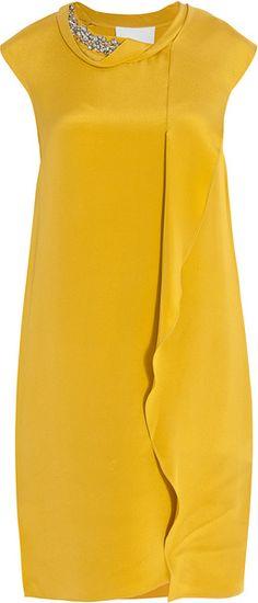 3.1 Phillip Lim - Draped Jewel Neck Shift Dress