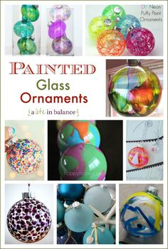 Painted Glass Ornaments for Christmas