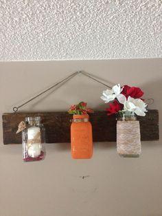 Antique mason jars & barn wood Mason Jar Lamp, Barn Wood, Table Lamp, Inspired, Antiques, Inspiration, Home Decor, Biblical Inspiration, Homemade Home Decor