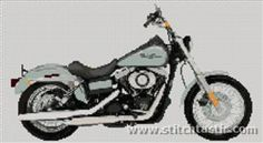 Harley 1 Counted Cross Stitch Pattern to print online.