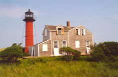 ATTRACTION//Monomoy Point Lighthouse--established in 1823, decommissioned in 1923, ferry services will take visitors to Monomoy Island but it is quite a hike to the lighthouse, one of the least visited light stations in Massachusetts  #monomoylight      #capecodlighthouses #capecod     #spmvacations