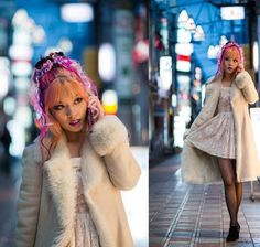 gyaru eye makeup, hairstyle, japanese street style, tokyo hair style, pink hair, Cover of Adone Magazine: Japanese street style issue! Girly...