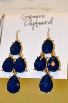 The fashion report is out and Monaco Blue is a top color this season!  Enjoy these earrings with any fun color this spring and summer!