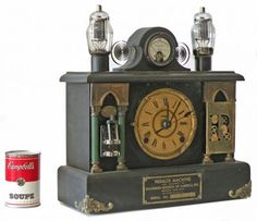 "Steampunk Mantle Clock  14"" high x 15"" wide x 5.5"" deep 