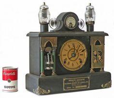 "Steampunk Mantle Clock  14"" high x 15"" wide x 5.5"" deep | #5036"