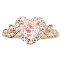 Hey, I found this really awesome Etsy listing at https://www.etsy.com/listing/229404444/morganite-engagement-ring-heart-ring-14k