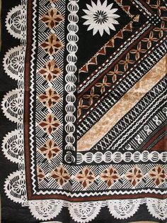 Fijian Tapa cloth -- somehow this reminds me both of some amazing quilts I have seen married to Ukrainian Easter eggs.