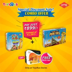 Special Discount Sale! Buy Combo Offer of Disney Lion King Pixoo + Disney Steps to Pride Rock board games worth 𝐑𝐬 1098 now only at  𝐑𝐬 899 and get a Jodi Joy card game worth  𝐑𝐬 299 absolutely free. Only at #ToysRus Stores Locations: - Phoenix Marketcity, Bangalore - RMZ Bangalore - Vega City, Bangalore - Phoenix Marketcity, Chennai - Marina Mall, Chennai - Phoenix Marketcity, Pune - Seasons Mall, Pune - City Centre, Mangalore - Mahagun Metro Mall, Ghaziabad - Y Mall Triprayar, Kerala Pride Rock, Online Games For Kids, Disney Lion King, Animal Games, Card Games, Joy, Stuff To Buy, Glee, Being Happy