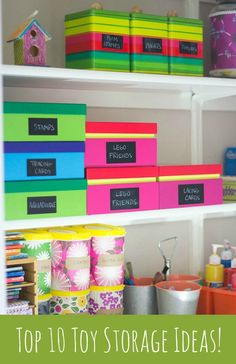10 awesome ideas to help reign in your kids' toys!