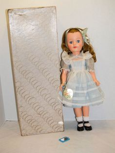 Vintage 1958 MIB Effanbee Little Lady Alice in Wonderland Doll.  Made for only one year, all original!