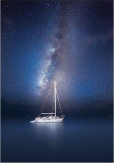 Night Sailing - if I ever attempt to reach enlightenment, this is exactly how and where I'd sit to do so