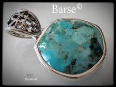 Hopeariipus Turkoosi Barse © - silver pendant turquoise