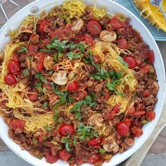 "3,253 Likes, 42 Comments - Rachel Maser (@cleanfoodcrush) on Instagram: ""Spaghetti Squash Skillet  Have you tried Spaghetti Squash? This Skillet meal is seriously So…"""