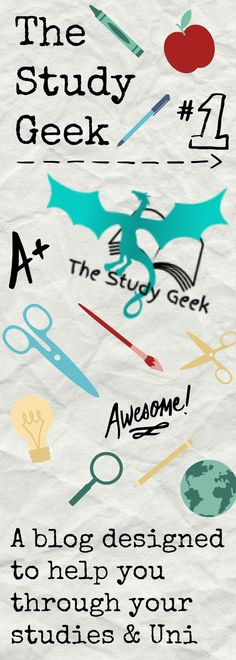 A blog written by a 19-year-old student who loves studying and planning. The Study Geek was started to share tips and ideas with other students and generally anyone to make their studies a bit easier.