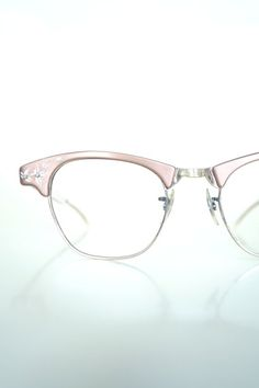 127531bc9a7 1950s Brow Line Art Craft Womens Eyeglasses Aluminum Glasses Floral Indie  Hipster Chic Rockabilly Mid Century Modern Mod 50s Copper Gold