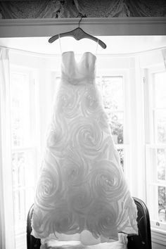 rosette wedding gown   Sam Stroud #wedding
