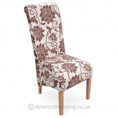 With trendy floral fabric upholstery that takes you back to nature, the Mia Dining Chair Brown is a traditional design perfect for the dining table.