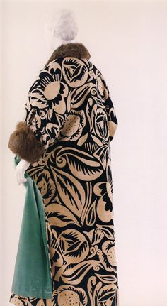 Raoul Dufy Textile Design on Poiret Coat, 1911