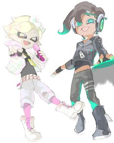Did they really genderbend pearl and Marina? Splatoon Squid, Splatoon Memes, Splatoon 2 Art, Splatoon Comics, Nintendo Splatoon, Marina Splatoon, Pearl And Marina, Otaku, Pokemon