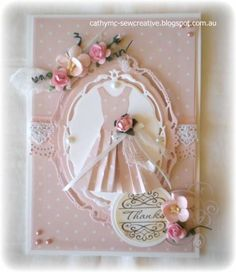 Paper Dress card by Cathy Mc - Cards and Paper Crafts at Splitcoaststampers