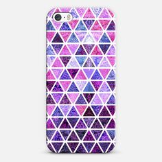 Berry Purples - Triangle Patchwork Pattern on white iPhone 5s case by Micklyn Le Feuvre | Casetify