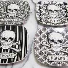 Skull plates that I own! Found them at home sense