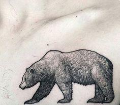 nice Animal Tattoo Designs - Dotwork Bear Tattoo by Lawrence Edwards Nature Tattoos, Body Art Tattoos, Sleeve Tattoos, Ship Tattoos, Ankle Tattoos, Arrow Tattoos, Tatoos, California Bear Tattoos, Bear Drawing