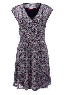 Mesh-Kleid mit Cache Coeur-Ausschnitt von s.Oliver. Entdecken Sie jetzt…