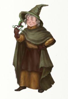 Pomona Sprout by truesimulacrum on DeviantArt Harry Potter Professors, Harry Potter Characters, Sprouts, Hogwarts, Artisan, Fan Art, Deviantart, Drawings, Craftsman