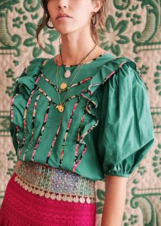 Sezane Blouse, Sunday Clothes, Cat Dresses, Lace Tops, Spring Fashion, Cute Outfits, Style Inspiration, Clothes For Women, My Style